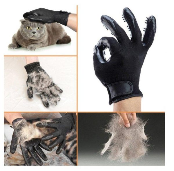 Manusi grooming pentru ingrijirea parului animalelor de companie (Pereche) - ShopGuru