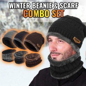 Set combo Beanie si Esarfa de Iarna - ShopGuru