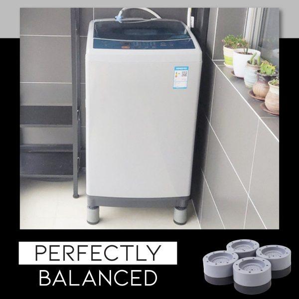 Suporti pentru mașina de spălat Anti-Soc și Zgomot (4 buc) - ShopGuru